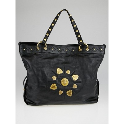 Gucci Black Leather Large Irina Tote Bag