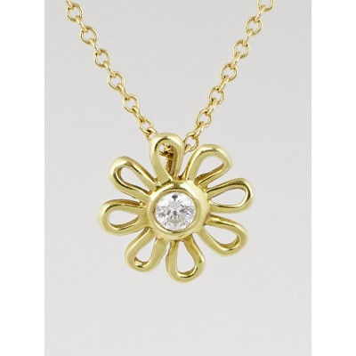 Tiffany & Co. 18k Gold and Diamond Paloma Picasso Daisy Pendant Necklace