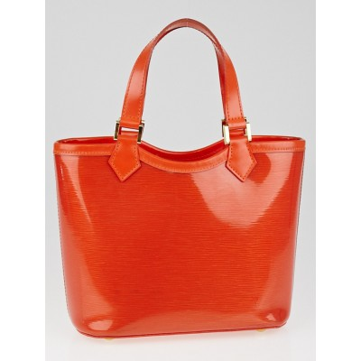 Louis Vuitton Mandarin Orange Vinyl Epi Leather Plage Mini Lagoon Bay Bag