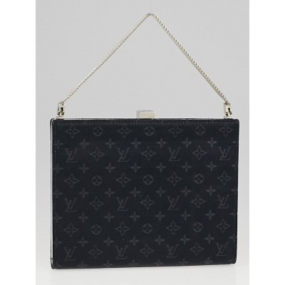 Louis Vuitton Limited Edition Black Monogram Satin Ange PM Evening Bag