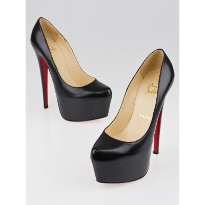 Christian Louboutin Black Leather Daffodile 160 Pumps Size 6/36.5