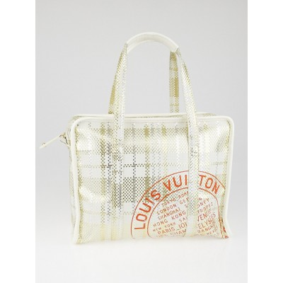Louis Vuitton Limited Edition White Braided Street Shopper PM Bag
