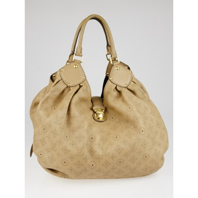 Louis Vuitton Biscuit Monogram Mahina Leather L Bag