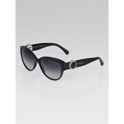 Chanel Black Frame Bouton Sunglasses-5192