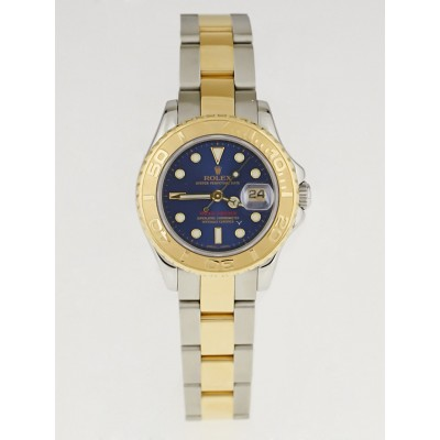 Rolex 29mm 18k Gold and Stainless Steel Blue Dial Yacht-Master Ladies Watch-169623