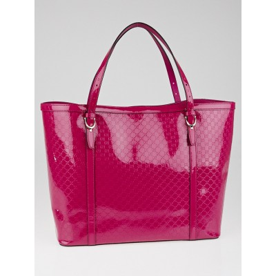Gucci Hot Pink Microguccissima Patent Leather Nice Tote Bag