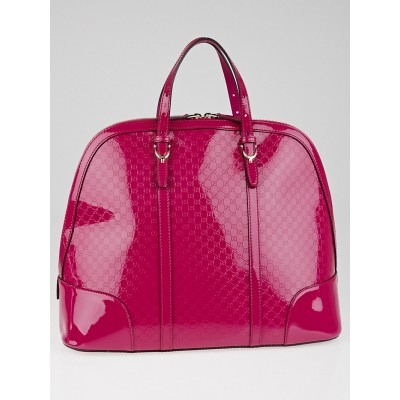 Gucci Hot Pink Microguccissima Patent Leather Nice Large Top Handle Bag