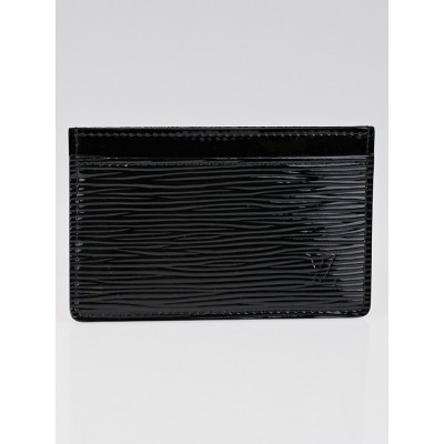 Louis Vuitton Black Electric Epi Leather Card Holder