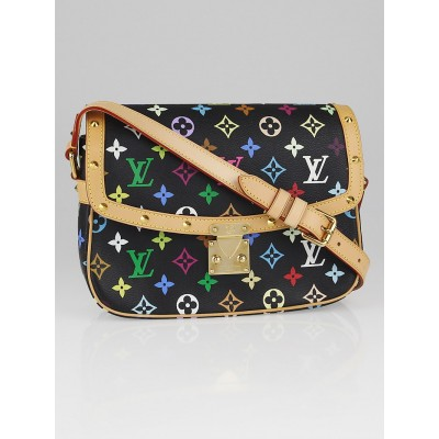 Louis Vuitton Black Monogram Multicolore Sologne Bag