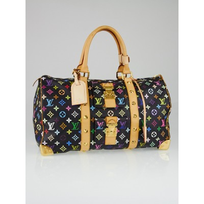 Louis Vuitton Black Monogram Multicolore Keepall 45 Bag