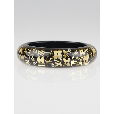 Louis Vuitton Black Resin Monogram Inclusion GM Bracelet