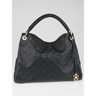 Louis Vuitton Black Monogram Empreinte Leather Artsy MM Bag