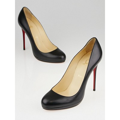 Christian Louboutin Black Leather Filo 120 Pumps Size 9.5/40