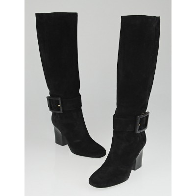 Gucci Black Suede Kesha Tall Boots Size 9/39.5
