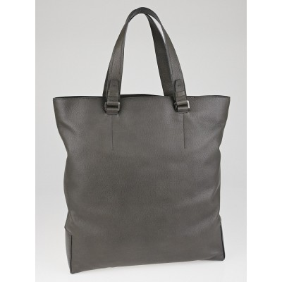 Lanvin Grey Calfskin Leather Tall Tote Bag