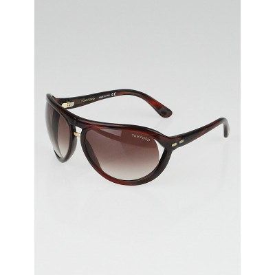 Tom Ford Brown Tortoise Shell Gradient Tint Cameron Sunglasses-TF72