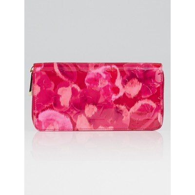Louis Vuitton Rose Indian Ikat Monogram Vernis Zippy Wallet