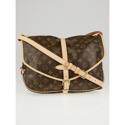 Louis Vuitton Monogram Canvas Saumur GM Bag