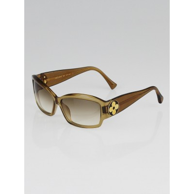 Louis Vuitton Gold Speckling Acetate Frame Ursula PM Sunglasses Z0100W