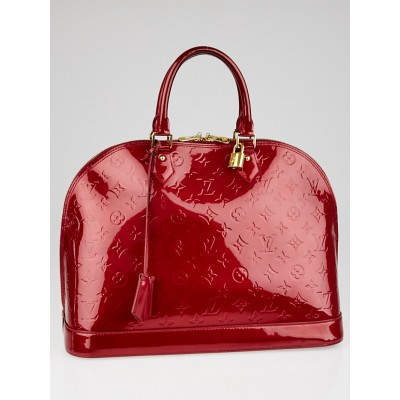 Louis Vuitton Pomme D'Amour Monogram Vernis Alma GM Bag