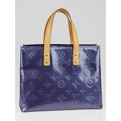 Louis Vuitton Indigo Monogram Vernis Reade PM Tote Bag