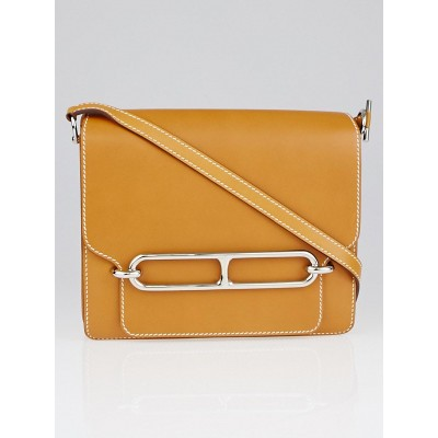 Hermes Natural Veau Butler Leather Roulis Bag