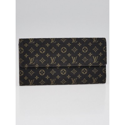 Louis Vuitton Ebene Monogram Mini Lin Mini Pochette Wallet