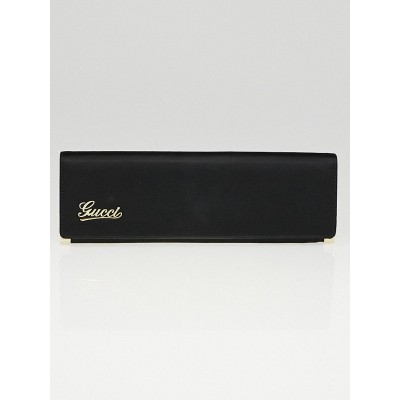 Gucci Black Satin Signature Clutch Bag