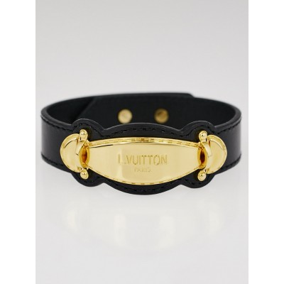 Louis Vuitton Black Leather Handle It Bracelet