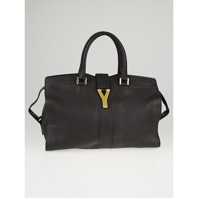 Yves Saint Laurent Black Leather Medium Cabas ChYc Bag