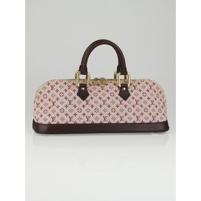 Louis Vuitton Cherry Monogram Mini Lin Canvas Horizontal Alma Bag