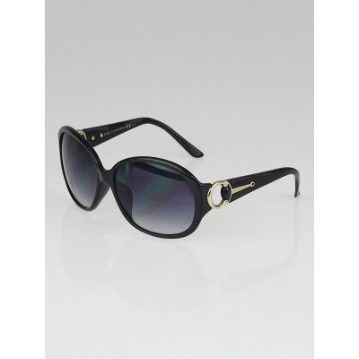 Gucci Black Frame Gradient Tint Horsebit Sunglasses-3113