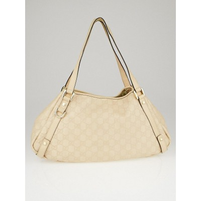 Gucci Pale Beige Guccissima Leather Medium Abbey Tote Bag