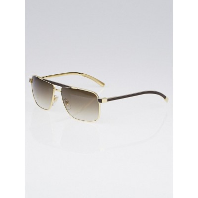 louis vuitton goldtone frame persuasion carre sunglasses