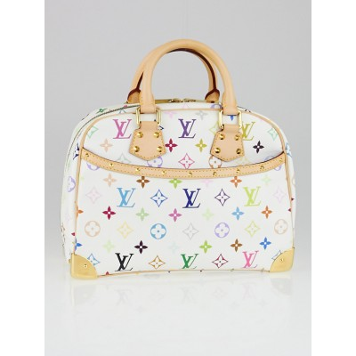 Louis Vuitton White Monogram Multicolor Trouville Bag