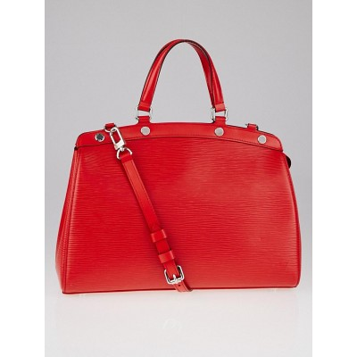 Louis Vuitton Coquelicot Epi Leather Brea MM Bag