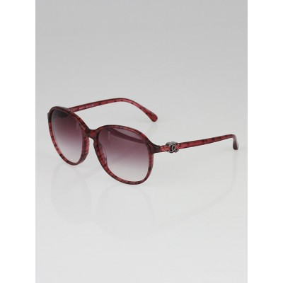 Chanel Red Frame Gradient Tint CC Sunglasses-5217