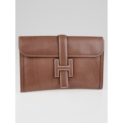 Hermes Griolet Tadelakt Leather Jige PM Clutch Bag