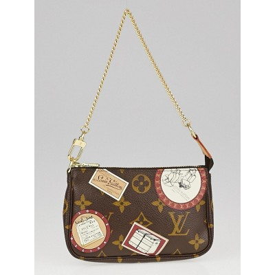 Louis Vuitton Limited Edition Monogram Patch Canvas Mini Accessories Pochette Bag