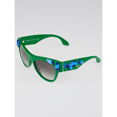 Prada Green Frame Crystal Voice Sunglasses - SPR22Q