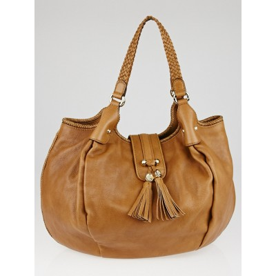 Gucci Light Brown Leather Marrakech Large Hobo Bag