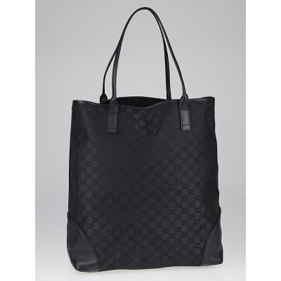 Gucci Black GG Canvas Large Shopping Tote Bag