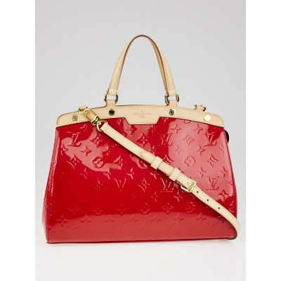 Louis Vuitton Cerise Monogram Vernis Brea MM Bag