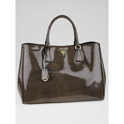 Prada Graphite Fume Spazzolato Leather Tote BN1844