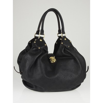 Louis Vuitton Black Monogram Mahina Leather L Bag