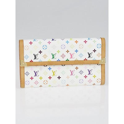 Louis Vuitton White Monogram Multicolore Porte-Tresor International Wallet