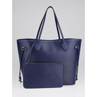 Louis Vuitton Indigo Epi Leather Neverfull MM Bag
