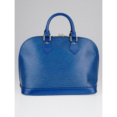 Louis Vuitton Toledo Blue Epi Leather Alma PM Bag
