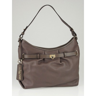 Salvatore Ferragamo Visone Calfskin Leather W Shoulder Bag