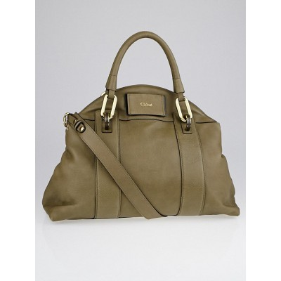 Chloe Khaki Leather Gemma Bag